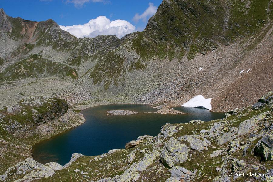 Il lago gelato in estate