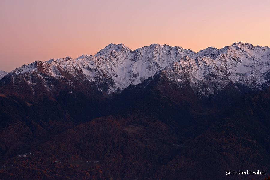 Tramonto sulle Alpi Orobie orientali