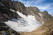 Alpinisti sulla Vedretta del Lupo